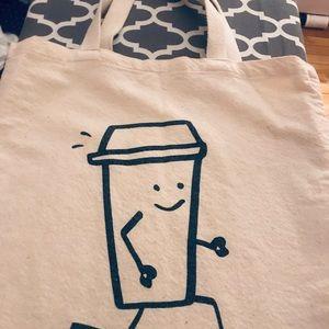 NYC Running Coffee tote bag